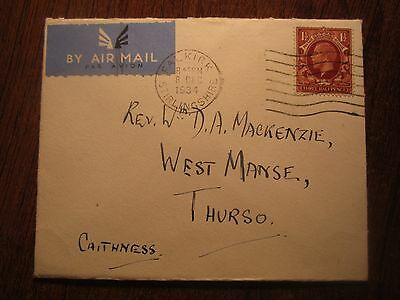 1934 Gb Airmail Falkirk Cover