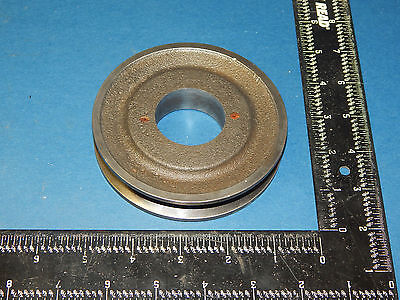 "Single V-Groove Pulley Sheave (1.625)1-5/8""inch Bore (4.375)4-3/8"" OD No Keyway"
