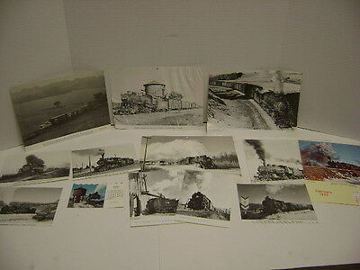 Lot of 14 Vintage Midwest short Lines Photos