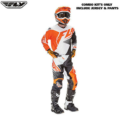 New 38 XXL Adult Fly Kinetic Vector Jersey Pants Kit OrangeBlack Motocross