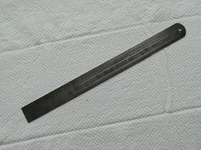 """Vintage Chesterman No 323D Whitworth Pitch 12"""" Steel Ruler"""