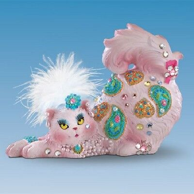 Meow-vously Supportive Feline Cat Figurine Hamilton  Breast Cancer Awareness
