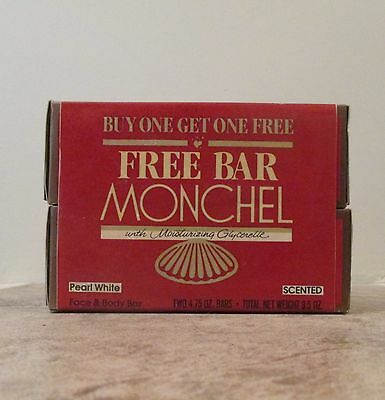 Lot Of 2 Vintage Monchel Face and Body Bar - 4.75 oz  - Scented