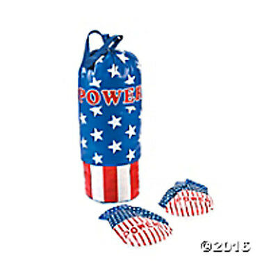 Vinyl Punching Bag & Boxing Gloves FREE U.S. Priority Ship NEW