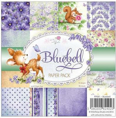 "New Wild Rose PAPER PACK SET 6 X 6""  BLUEBELL  36 sheets free usa ship"
