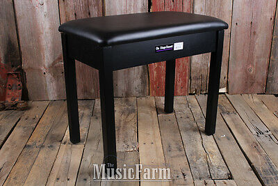 On Stage KB8902B Flip Top Wooden Piano Keyboard Bench Padded Cushion Seat Black