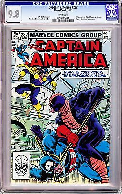 "CAPTAIN AMERICA #282 MIKE ZECK (1983) CGC 9.8 WP ""1st Appearance Nomad!!"""