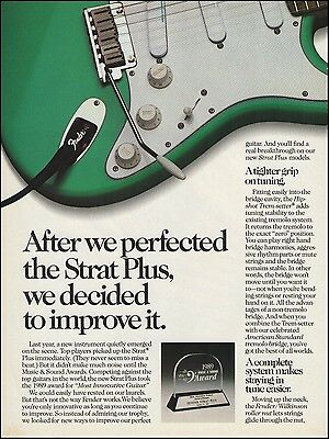 The 1989 Fender Stratocaster Strat Plus electric guitar ad 8 x 11 advertisement