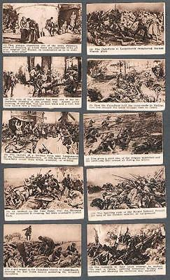 Very Rare Canadian Chicle WW1 Trading Cards Near Set of 14/16