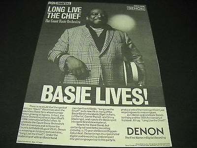 COUNT BASIE Long Live The Chief 1986 Music Business PROMO DISPLAY ADVERT mint c.