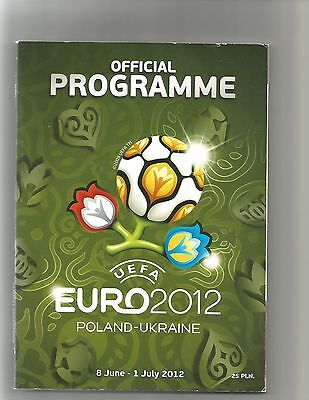 EURO 2012, OFFICIAL TOURNAMENT PROGRAMME, 154 pages