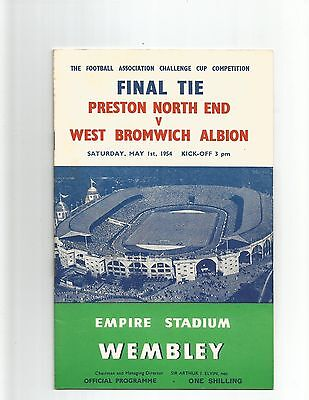 PRESTON NORTH END v WEST BROMWICH ALBION (F.A Cup Final) 1954