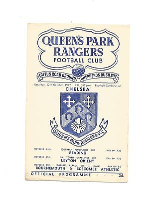 Q.P.R RES. v CHELSEA RES. 1957/58