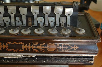 """Authentic 1840's-50's French Accordion Fluetina Poss. Busson's 12"""" Green Bellows"""