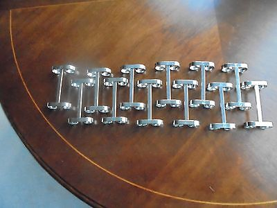 12 Vintage/Retro/1950s Chrome metal knife rests 'porte couteau' in box, France