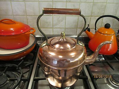 Lovely Vintage Country Cottage Chic Large Copper Kettle from France