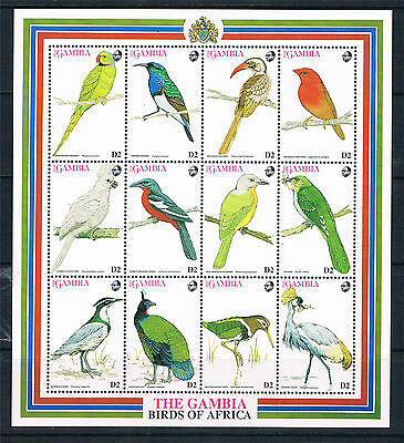 Gambia 1993 African Birds SG 1509/20 MNH