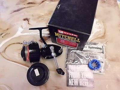Garcia Mitchell 300 Spinning Reel made in France w/ Spare Spool & More