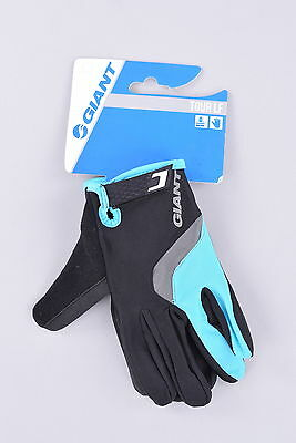 NEW Giant Tour Long Finger Cycling Gloves   Large   Black/Blue