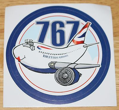 British Airways Boeing 767 Funplane Sticker