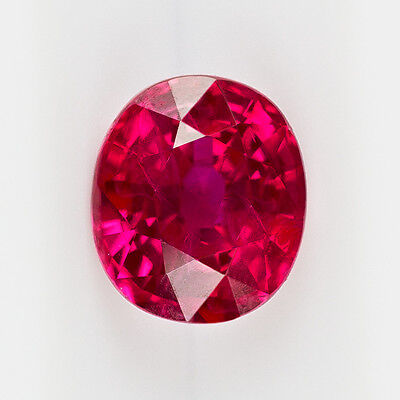 Gia Certified Burma 1.33 Ct Natural Rich Red Ruby Oval Ideal Cut Loose Cushion