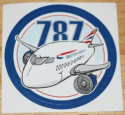 British Airways Boeing 787 Dreamliner Funplane Sticker