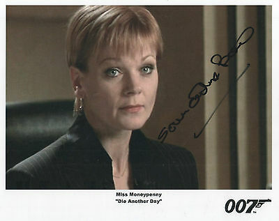 "James Bond Auto Photo Print Samantha Bond ""Miss Moneypenny"""