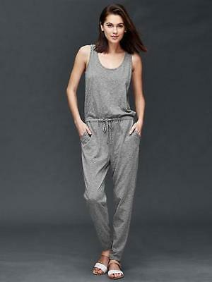 Gap NWT Gray Slub Jersey Knit Jumpsuit Romper XL 16 18 $60