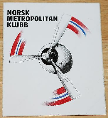 Old Norsk Metropolitan Klubb (Norway) Convair CV-440 Engine Sticker