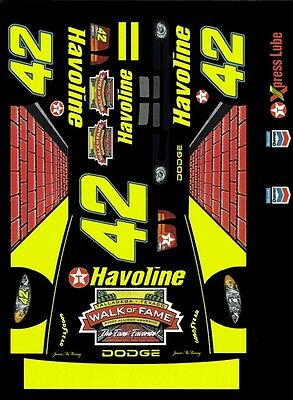 #42 Jamie McMurray Walk of Fame 2003 1/24th - 1/25th Scale Decals