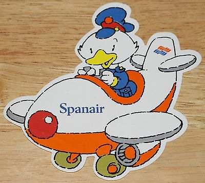 Old Spanair (Spain) Airline cartoon Sticker