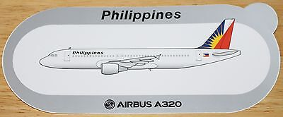 Philippines Airlines Official Airbus Issued A320 Airline Sticker