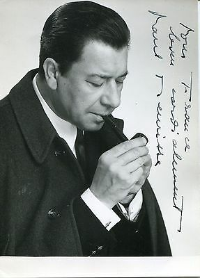Autographe Dédicace ORIGINAL de l'acteur PAUL MEURISSE sur photo 11x15