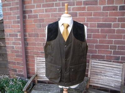 Waxed Hunting / Shooting Vest / Waistcoat / Gilet size XL