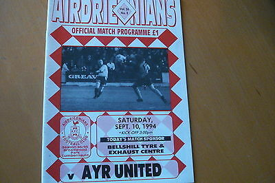 Airdrieonians (Airdrie) V Ayr United                                     10/9/94
