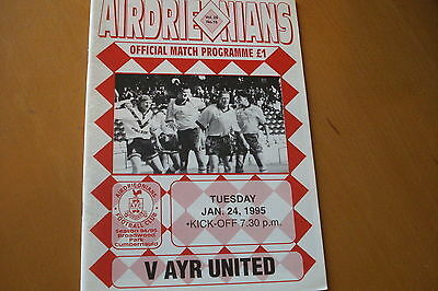 Airdrieonians (Airdrie) V Ayr United                                     24/1/95