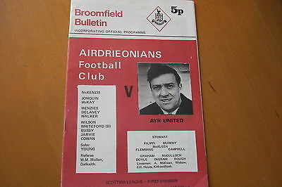Airdrieonians (Airdrie) V Ayr United                                     9/10/71