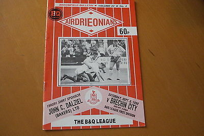 Airdrieonians (Airdrie) V Brechin City                                    8/9/90