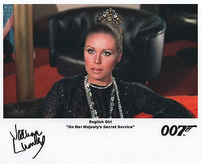 "James Bond Auto Photo Print Joanna Lumley ""English Girl"""