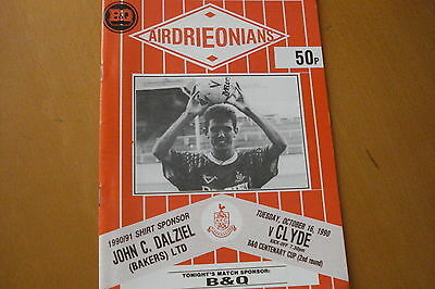 Airdrieonians (Airdrie) V Clyde                 B&q Cup                 16/10/90