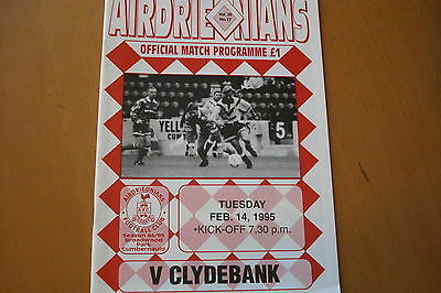 Airdrieonians (Airdrie) V Clydebank                                      14/2/95