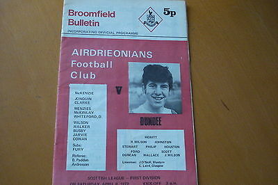 Airdrieonians (Airdrie) V Dundee                                          8/4/72
