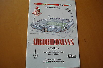 Airdrieonians (Airdrie) V Falkirk                                        15/3/97