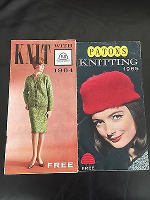 2 VINTAGE PATONS KNITTING PATTERN BOOKs 1965 And 1964