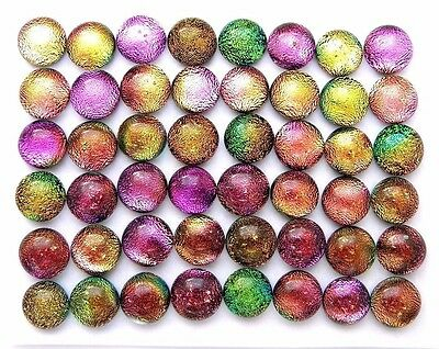 TINY RAINBOW Lot 48 pcs DICHROIC earrings scrapbooking FUSED GLASS (C4) cab