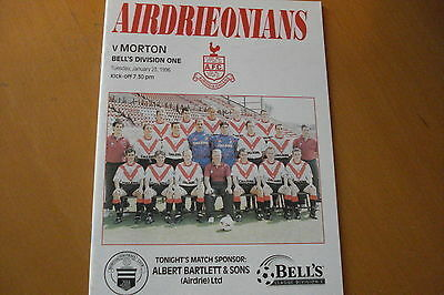 Airdrieonians (Airdrie) V Morton                                         23/1/96