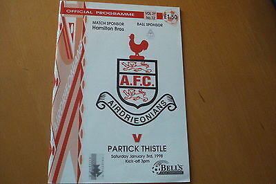 Airdrieonians (Airdrie) V Partick Thistle                                 3/1/98