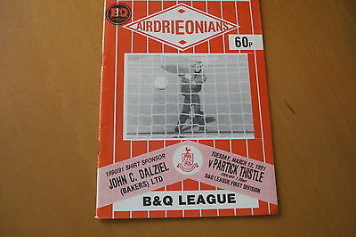 Airdrieonians (Airdrie) V Partick Thistle                                12/3/91