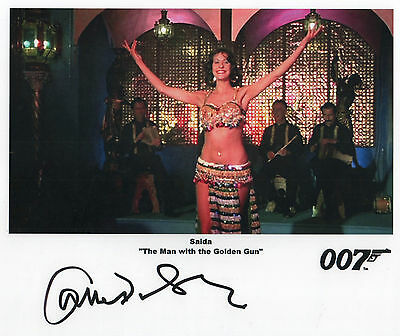"James Bond Auto Photo Print Carmen Du Sautoy ""Saida"""