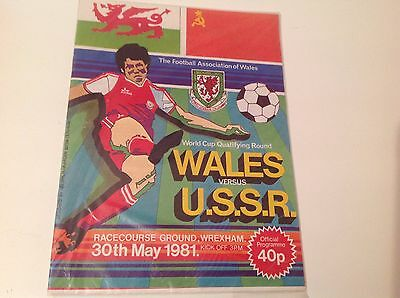 Wales V Russia Wcq  Match 30Th May 1981